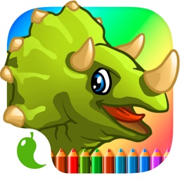 Amazing Dino Coloring Book Pro - The creative paint and color dinosaurs how to draw app for kids and toddlers
