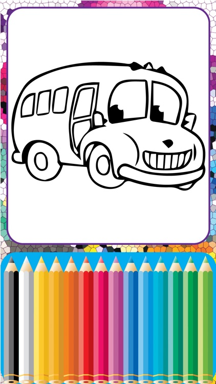 My ABC Cartoon School Bus Coloring Games for Kids screenshot-3