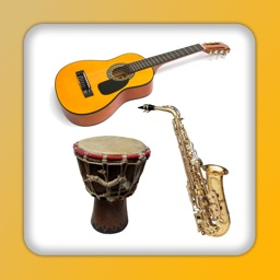 Musical instruments sounds flashcards and matching pairs game for kids and toddlers