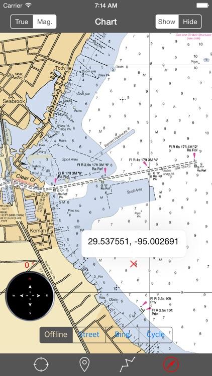 Galveston Bay-Houston (Texas) – Raster Nautical Charts screenshot-3