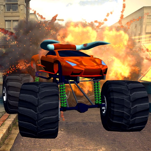 3D Monster Truck City Rampage - Extreme Car Crushing Destruction & Racing Simulator FREE iOS App