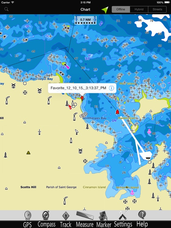 Bahamas Caribbean GPS Nautical charts pro screenshot-1