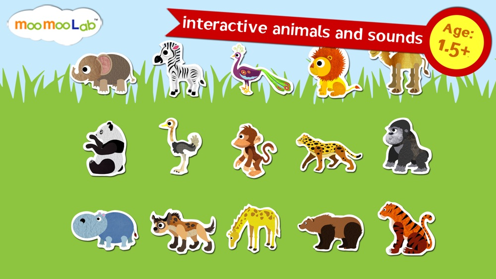 Zoo Animals - Animal Sounds, Puzzles and Activities for Toddlers and Preschool Kids by Moo Moo Lab hack tool