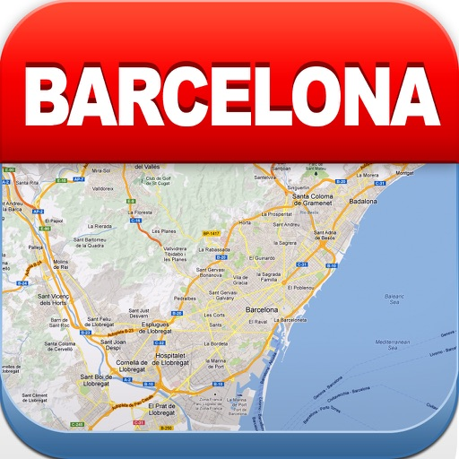 Barcelona Offline Map - City Metro Airport and Travel Plan
