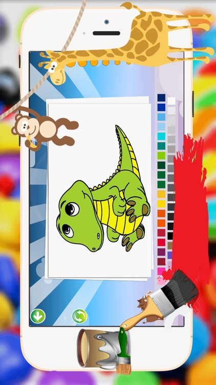 Baby Animals Coloring Book -  All In 1 Cute Animal Draw, Paint And Color Pages Games For Kids screenshot-4