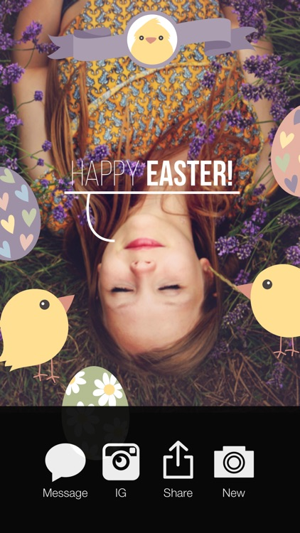 Happy Easter - Easter Celebration Everyday FREE Photo Stickers