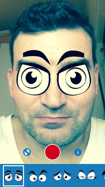 iEye - Funny Cartoon Eyes Camera screenshot-3