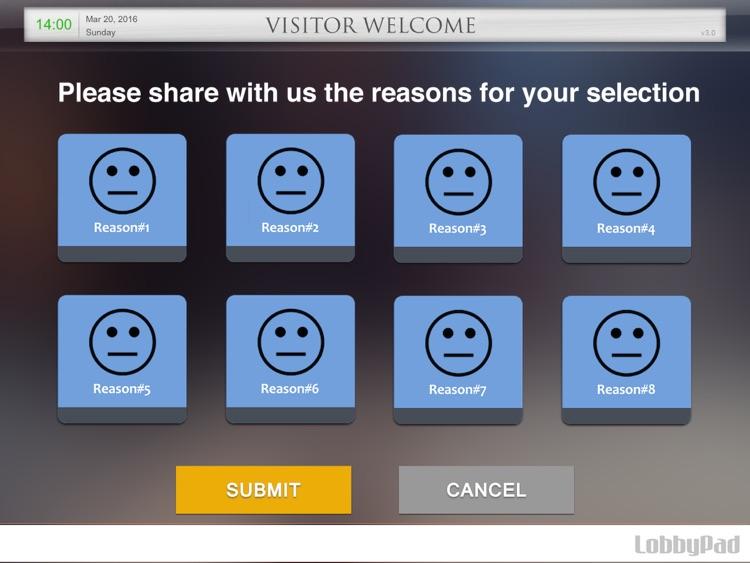 LobbyPad - Smiley Face Customer Feedback