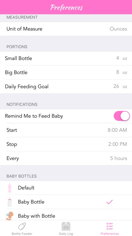 Smart Baby Bottle - Feeding, Reminder, & Daily Tracker Log screenshot-4