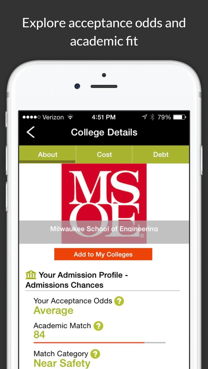 College Scholarship Calculator Screenshot