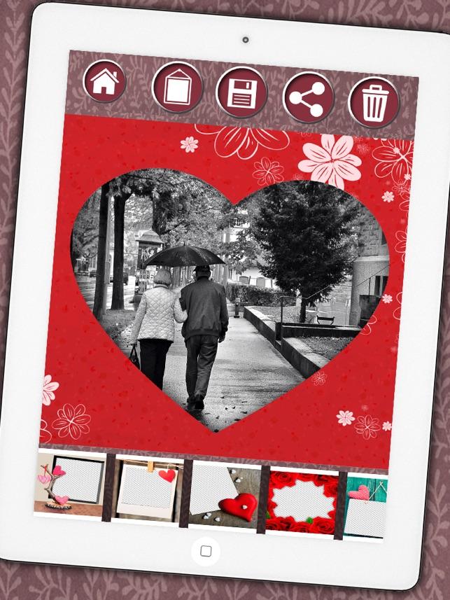 Love Bilderrahmen Fotomontage Liebe Rahmen zu Ihrem romantischen ...