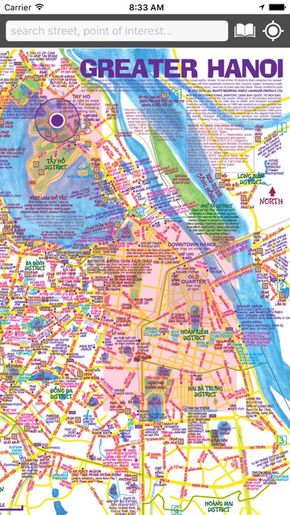 Map of Hanoi