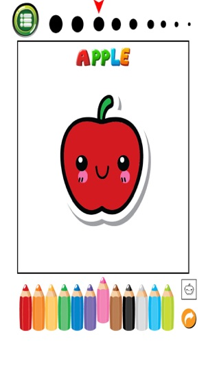 Fruits And Vegetables Phonics Coloring Book English Vocabulary Learning Free For Toddlers Kids On The App Store