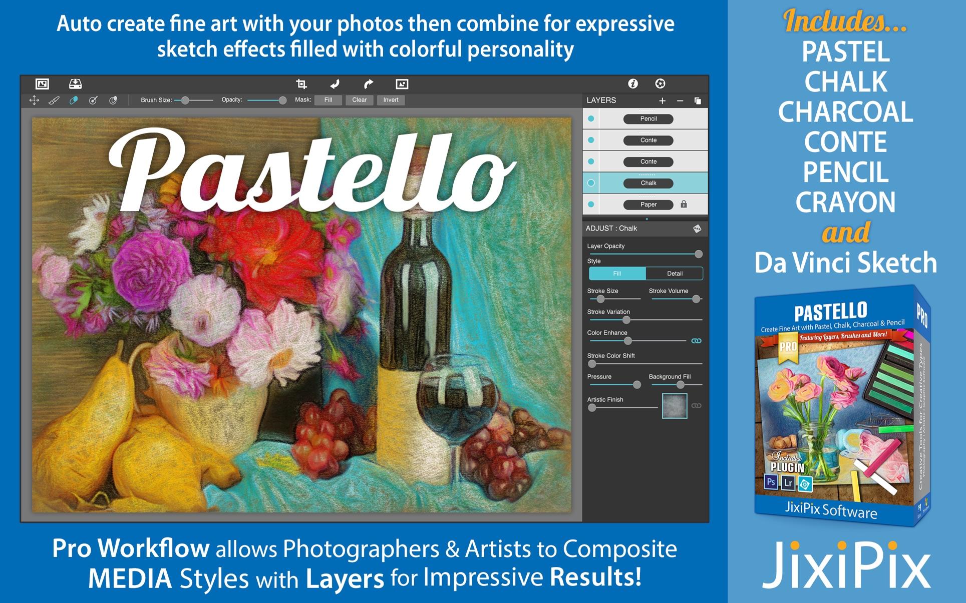 JixiPix Pastello Pro 1.1.16 Mac 破解版 图像编辑器
