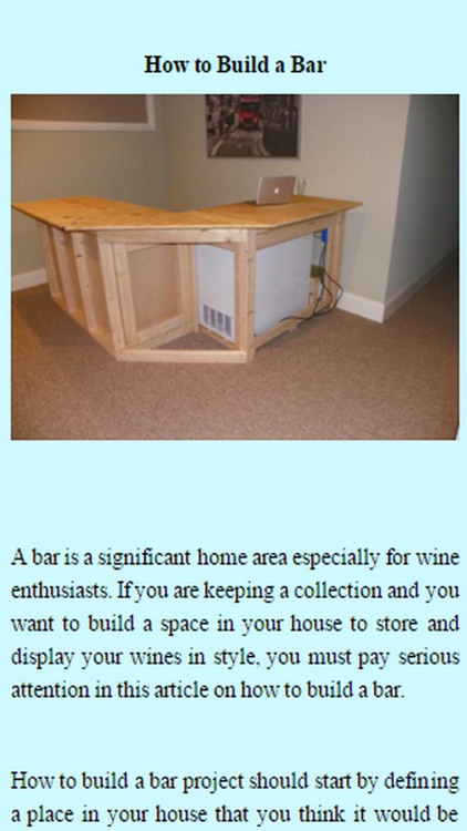 How To Build A Bar.
