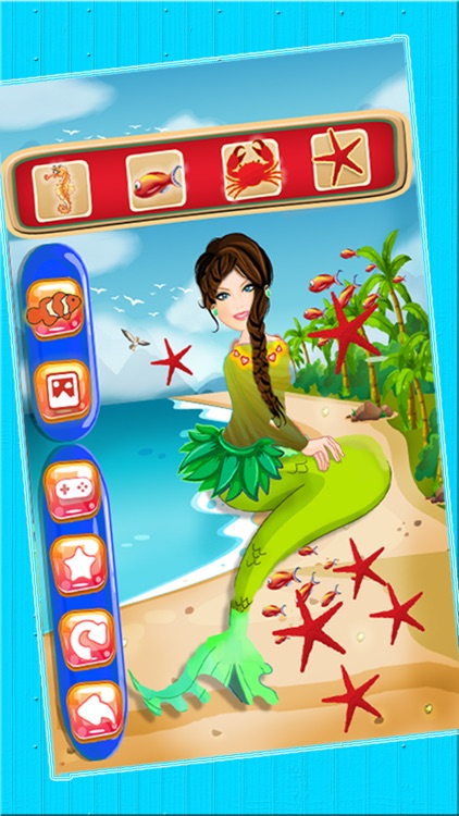 Mermaid Princess Spa Makeover Salon - An Underwater aquatic dress up & make up fairy tale game for girls screenshot-3
