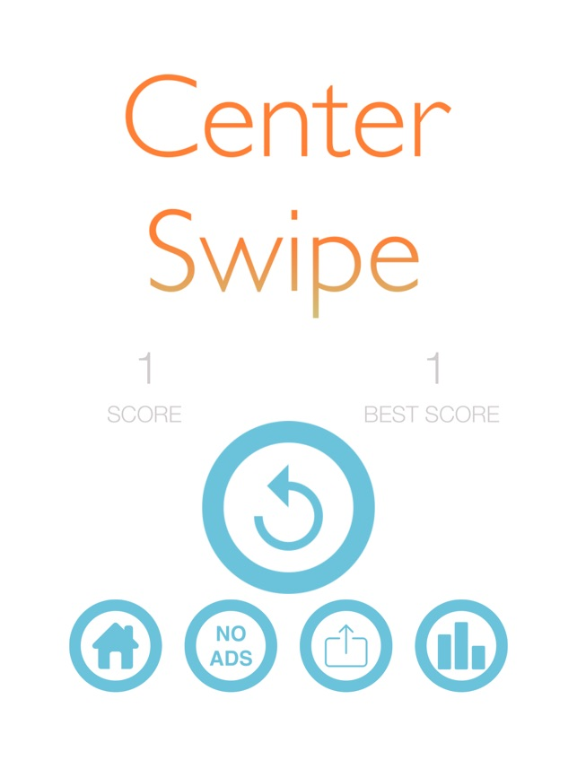Center Swipe Screenshot