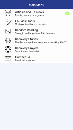 EA Recovery 12 step program Emotions Anonymous on the App