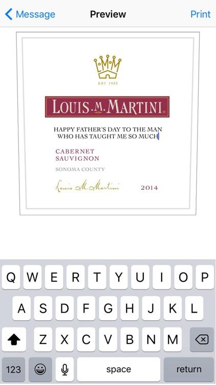 Louis M. Martini Labeler screenshot-3