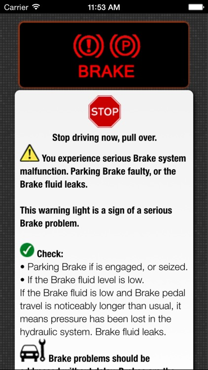 App for Subaru Warning Lights & Problems