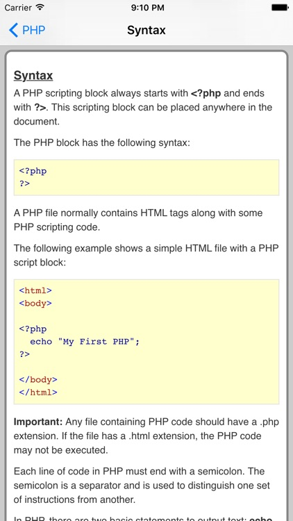 PHP Pro Quick Guide