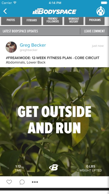 BodySpace - Social Fitness App screenshot-4