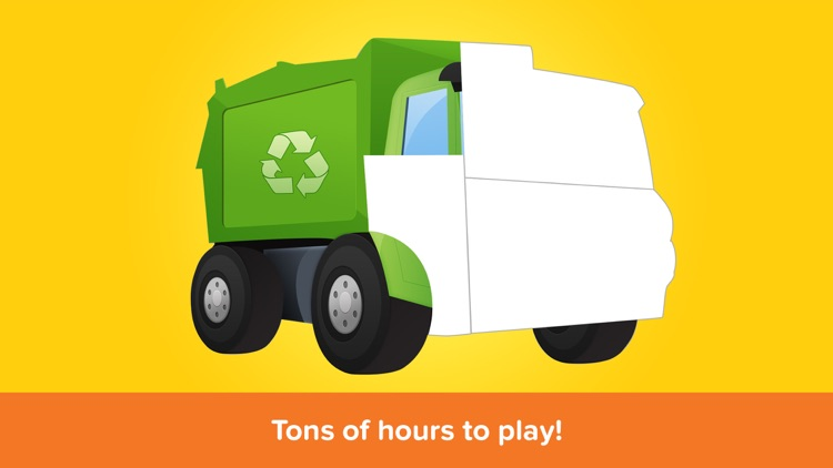 Kids Puzzles - Trucks- Early Learning Cars Shape Puzzles and Educational Games for Preschool Kids Lite screenshot-4