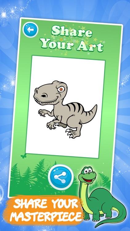 Best coloring book : Dinosaurs screenshot-3