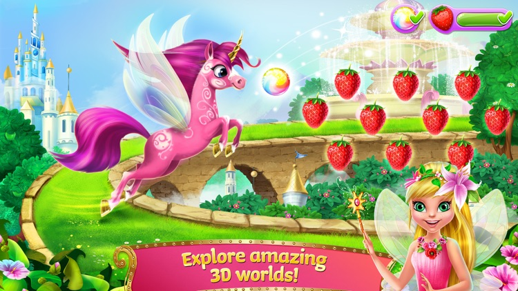 Princess Fairy Rush - Pony Rainbow Adventure screenshot-4
