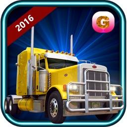 Truck Driver Simulator 2016 - Log cargo transporter truck 4x4 offroad parking game
