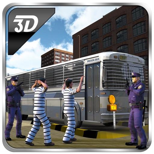 Полиция Transporter Тюрьма автобус 3D - Привод Уголовное Транспорт Автобус в преступности городе
