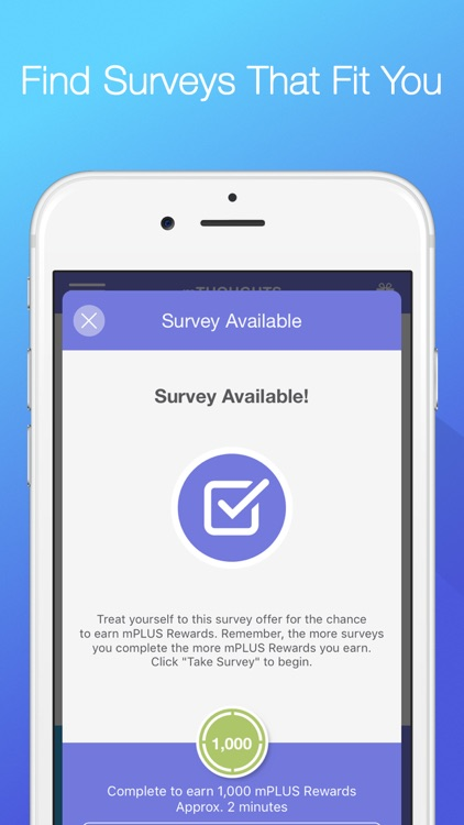 mTHOUGHTS – Share Opinions and Earn mPlus Rewards screenshot-2