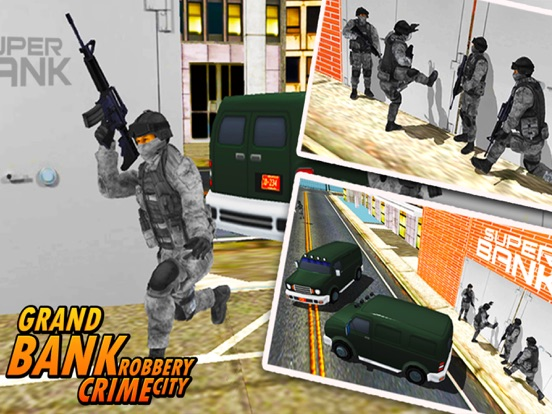 Bank Robbery - crime city police shooting 3D free-ipad-1