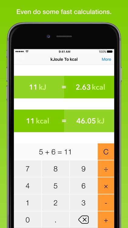 kJoule To kcal, the fastest energy converter screenshot-4
