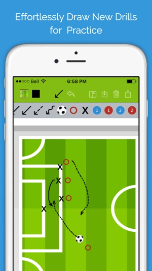 Soccer blueprint lite clipboard drawing tool for coaches en app store malvernweather Gallery
