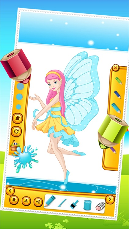Beauty Fairy Princess Coloring Book Drawing for Kid Games