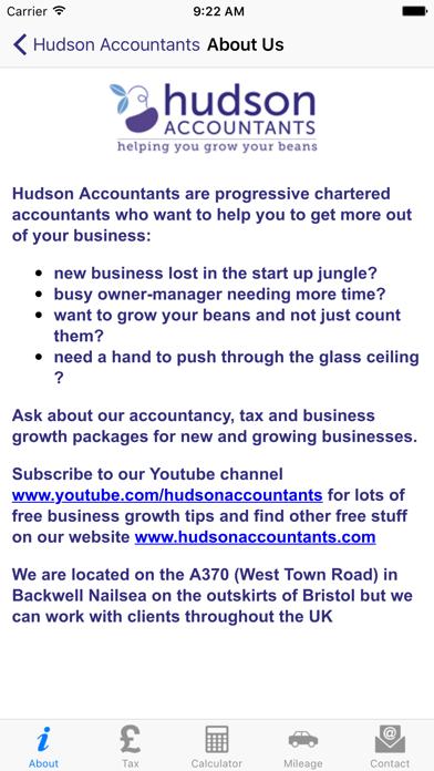 Hudson Accountants screenshot one
