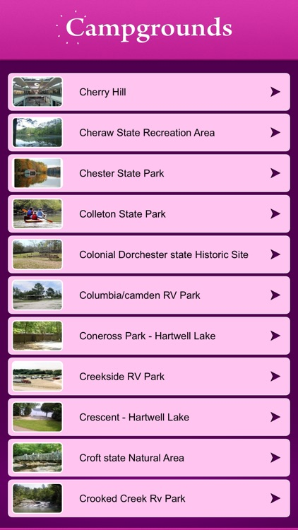 South Carolina Campgrounds and RV Parks