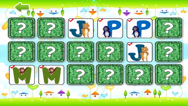 Alphabet Flashcard Match Puzzle For Toddlers - Animal Pair Game