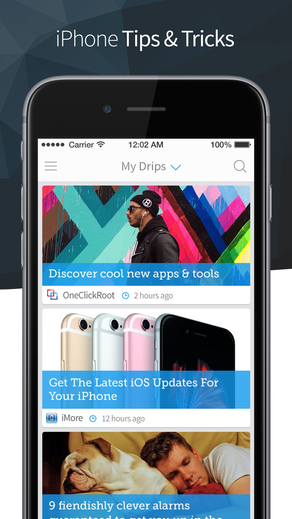 Drippler - Updates, Apps & Tips for Your Phone Screenshot