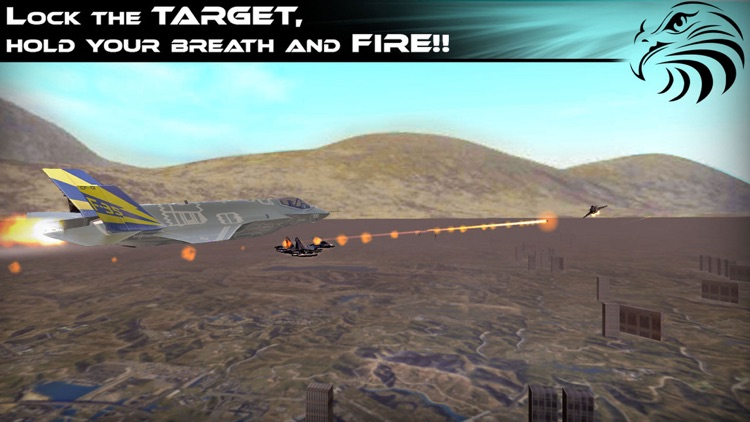 Jet Fighter Dogfight Chase - Hybrid Flight Simulation and Action game 2016 screenshot-4