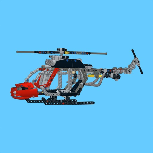 helicopter for lego technic 8051 set building instructions by sergey slobodenyuk. Black Bedroom Furniture Sets. Home Design Ideas