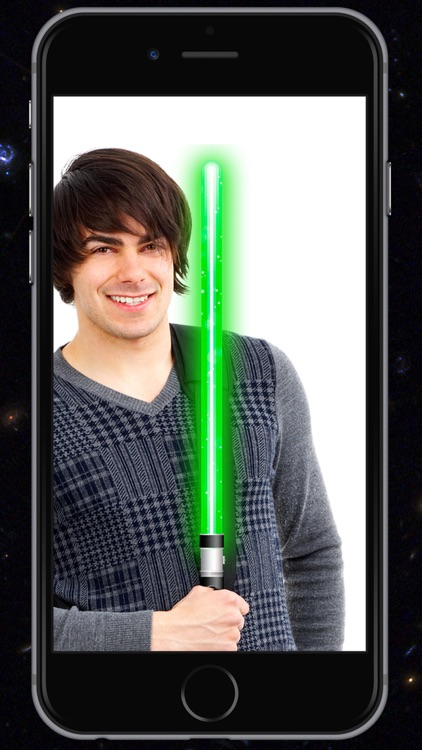 Lightsaber of galaxies Simulator of laser sword with sound effects and camera to take pictures - Premium screenshot-4