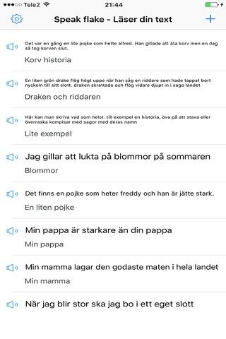 SpeakFlake - på svenska screenshot 2