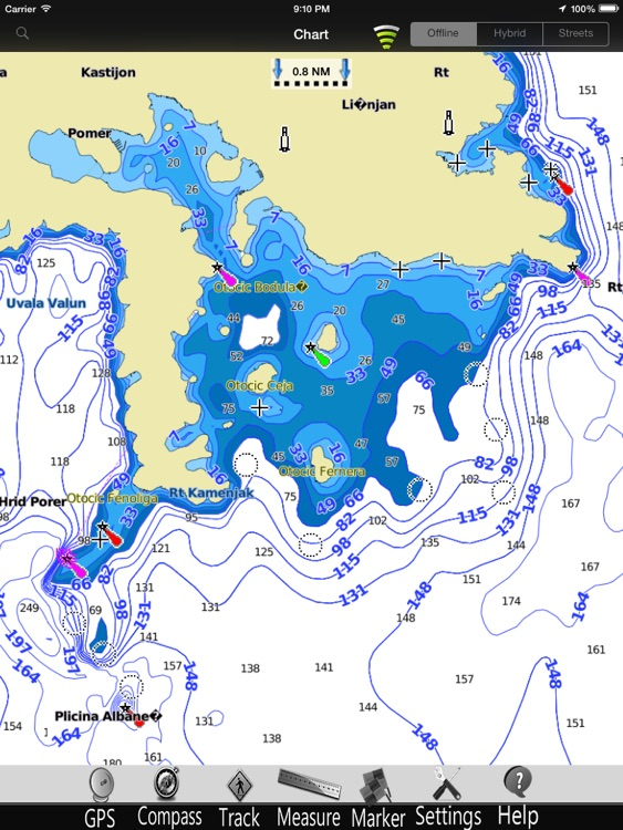 Croatia GPS Nautical Chart Pro screenshot-3