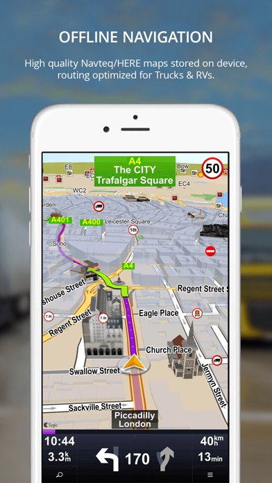 Screenshot #2 for Sygic Truck GPS Navigation