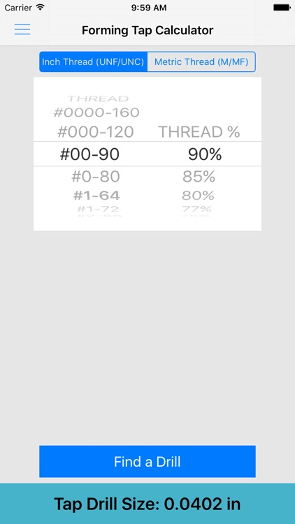 ThreadKing, Ultimate Reference and Calculator for Threads, Drills, Taps