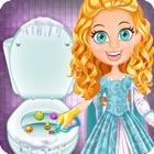 Limpeza do quarto de banho de princesa do gelo icon