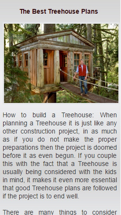 How To Build A Tree House.