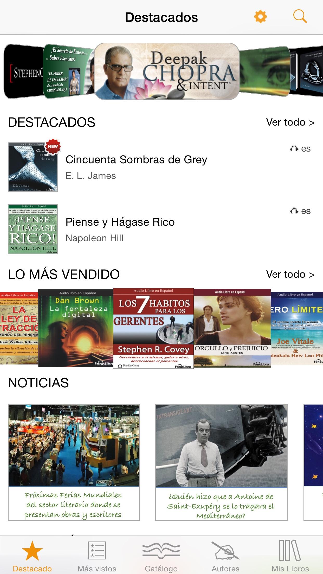 Libros y Audiolibros en Español Screenshot